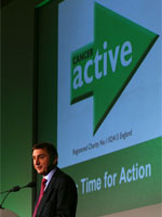 Chris Woollams and CANCERactive logo