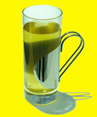 Green tea in a glass