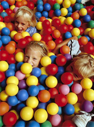 Children playing in balls