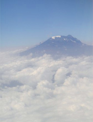 Kilimanjaro from the plane