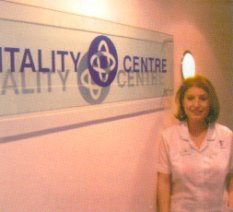Lisa at the Vitality Centre