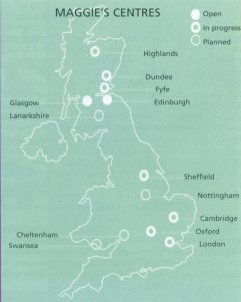 Maggies Centres map