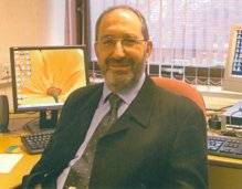 Mike in the office