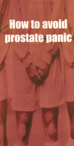 How to avoid prostate panic