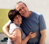 Terry Kavanagh with his wife