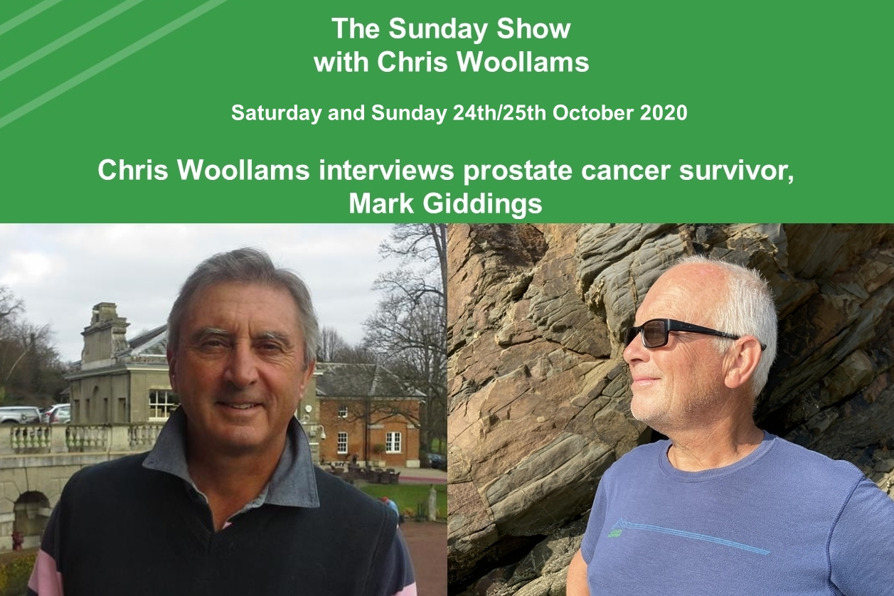 * The Sunday Show, Chris Woollams interviews prostate cancer survivor, Mark Giddings