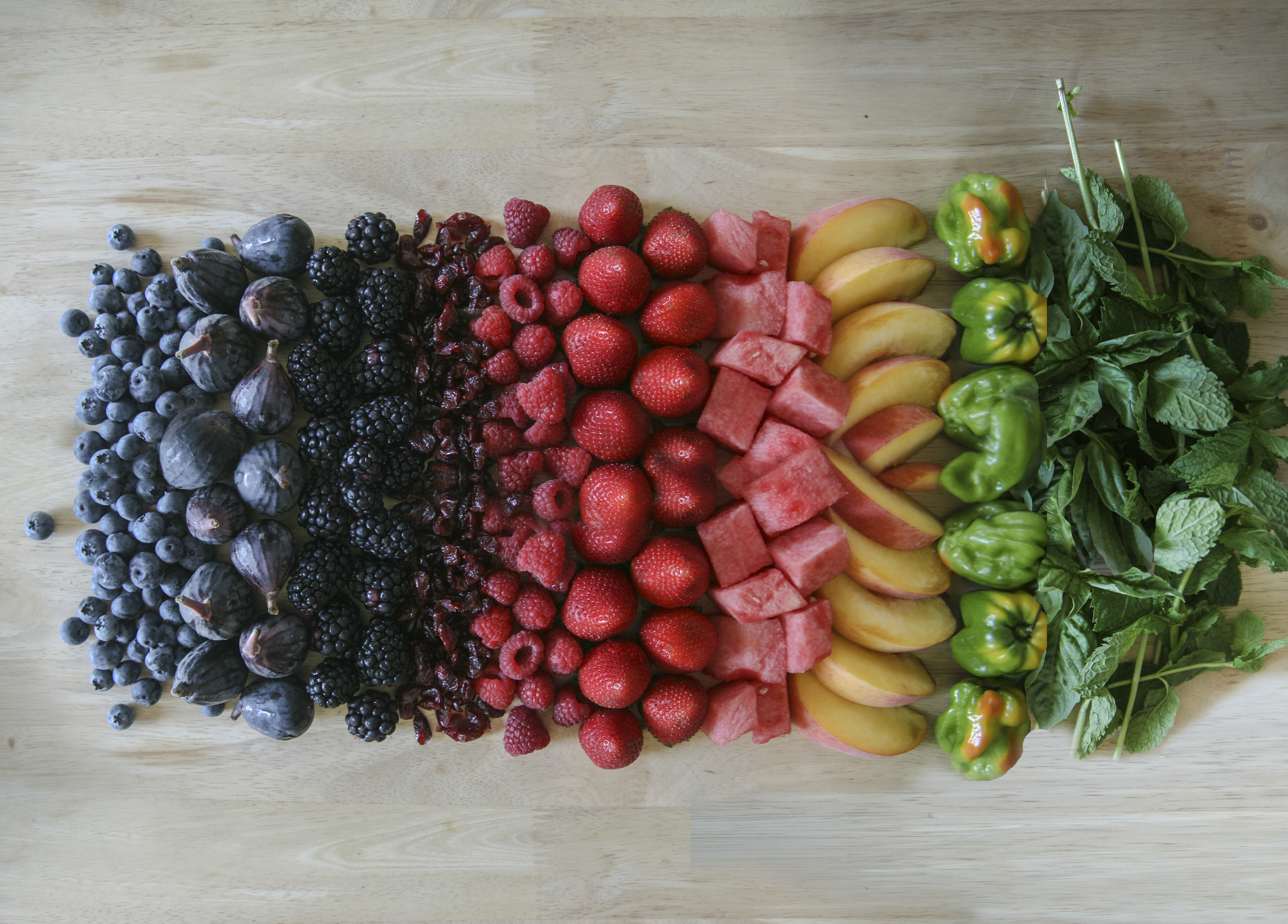 The American Institute for Cancer Research recommends a rainbow diet