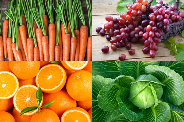Anti-cancer polyphenols confirmed in carrots, oranges, grapes and cabbage