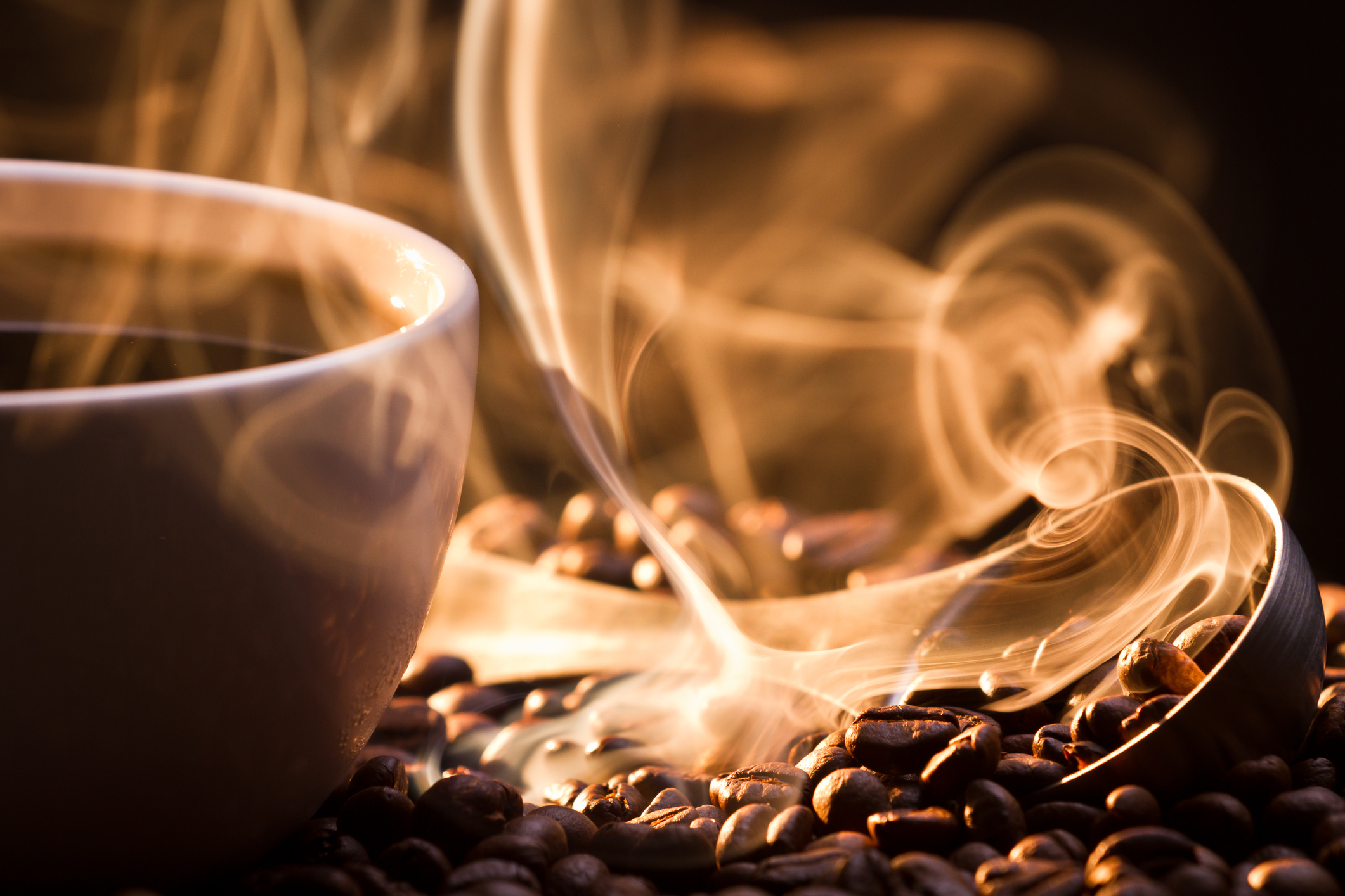 Regular cups of caffeinated coffee increase chances of surviving bowel cancer